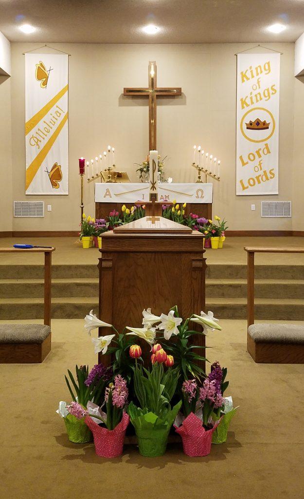Sanctuary on Easter Sunday